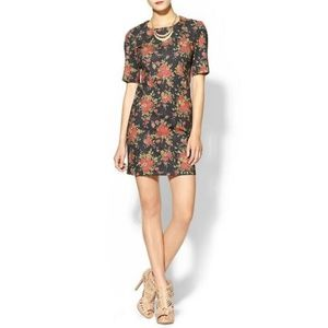 Rhyme Los Angeles Fall Floral Mini Dress